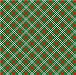 Feltro Mewi Coleção Natal - Tartan News Verde (0,50X1,40)