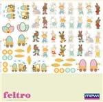 Feltro Mewi Estampado - Páscoa dos Sonhos Scrap Mini (0,50x1,40)