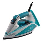 Ferro a Vapor Black+decker Aj4000 com Base Antiaderente Techno Ceramic e Smart Touch 220 V