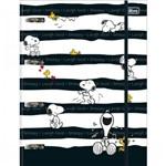 Fichário Argolado Universitário Cartonado com Elástico Snoopy Tilibra