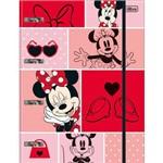 Fichário Cartonado Minnie 80 Folhas com Elástico Tilibra
