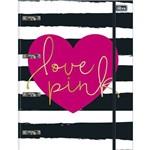 Fichário Universitário C/ Elástico - Love Pink - TILIBRA - 80 Folhas