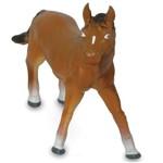 Figura Bicho Mundi - 23 Cm - Animais da Fazenda - Cavalo - Dtc