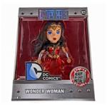 Figura Colecionável 10 Cm - Metals - Dc Comics - Justice League - Mulher Maravilha - Dtc