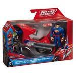 Figura com Veículo Liga da Justiça - Super Homem e Moto - Mattel