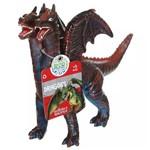 Figura de Dragão - 21 Cm - Bicho Mundi Dragões - Vermleho e Azul - Dtc