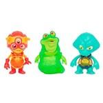 Figuras Exogini - Blister com 3 - Capitan Parrot, Charlie Pilot, Luis - Candide