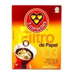Filtro de Café 103 3 Corações Cx 30 Un