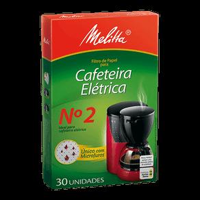 Filtro de Papel Melitta Cafeteira Elétrica Nº 2 Médio C/ 30