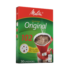 Filtro de Papel Melitta Original 102 C/ 30 Unidades