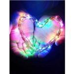 Luz de Fada Fio de Led Flexível 3 Metros 30 Leds - Colorido