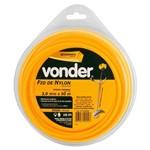 Fio de Nylon Quadrado Vonder 3.0mm 50M Amarelo