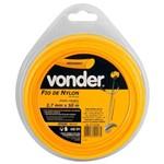Fio de Nylon Redondo Vonder 2.7mm 50M Amarelo