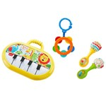 Fisher Price Conjunto de Mordedores e Chocalhos Kit Musical - Mattel
