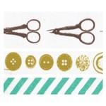 Fita Adesiva Decorativa Tesoura e Botões Fad15
