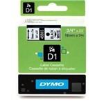 Fita D1 45800 Preto no Transparente 19mmx7m P/rotulador Dymo