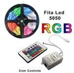 Fita de Led RGB com Controle Remoto - 4 Fios