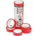 Fita Durex 12mmx10m Vermelho 10 Unidades - Adelbras