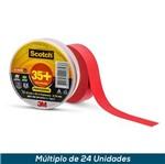 Fita Isolante 3M Scotch 35+ Vermelho 19mmx20mts