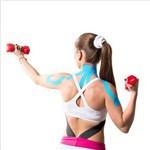 Fita Kinesio Muscle Fix 5x25cm Pré Cortada Cor Preta - Hc136