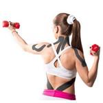 Fita Kinesio Muscle Fix 5x25cm Pré Cortada em Y Preta