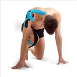 Fita Knésio Muscle Fix 5x25cm Pré Cortada Preta Multilaser -
