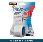 Fita 3M Scotch Silver Tape Transparente - 38mmx4,57mts