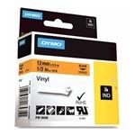 Fita para Rotulador Profissional Preto/Amarelo 19mm X 5,5m RhinoPro 18433 Dymo