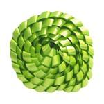 Fita Trançada Lisa Verde Limão 2MT - Laleti