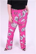 Flarê Malha Estampada Plus Size Pink M