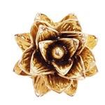 Flor Cerâmica Dourado Decoração Grande - 7688