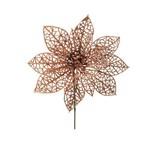 Flor Decoração Natal P/árvore Natal 20cm Rose