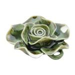 Flor Decorativa de Cerâmica Verde Sunburst Suculent Urban