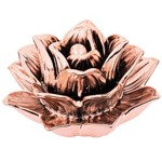 Flor Rose Gold em Cerâmica