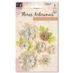 Flores Artesanais Coleção Clássica Sortidas com Glitter Toke e Crie Coral - 20512 - Flor162