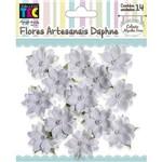 Flores Artesanais com Perola Branco Colecao Algodao Doce