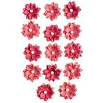 Flores Artesanais Daphne Vermelho Coleção Algodão Doce Flor153 - Toke e Crie