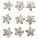 Flores Artesanais Hortênsia Toke e Crie Flor172 Marfim Coleção Delicada