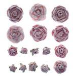 Flores Artesanais Rosas Mistas Delicada Flor116 - Toke e Crie