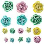 Flores Artesanais Rosas Mistas Marshmallow Flor120 - Toke e Crie