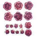 Flores Artesanais Rosas Mistas Rouge Flor117 - Toke e Crie