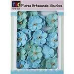Flores Artesanais Sininho Coleção Algodão Doce - Azul