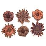 Flores Artesanais Vintage Manuscrito I Marrom Flor72 Toke e Crie