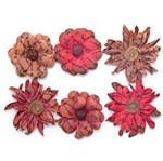 Flores Artesanais Vintage Manuscrito I Vermelha Flores73 Toke e Crie