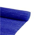 Folha de Papel Crepom Azul Royal Realce