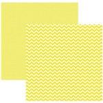 Folha P/ Scrap Basico Chevron Amarelo By Mariceli - Dupla Face