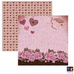 Folha para Scrapbook Amor Retro By Mamiko Toke e Crie Barrado - 17666 - Sdf588