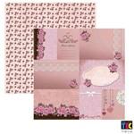 Folha para Scrapbook Amor Retro By Mamiko Toke e Crie Cartões - 17667 - Sdf589