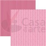 Folha para Scrapbook Básico Multitons Poa e Listras Chevronvermelho By Flavia Terzi Toke e Crie 13367 - Kfsb233