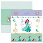 Folha para Scrapbook Dupla Face Disney Toke e Crie Ariel 1 Cenário e Bandeirolas - 19567 - Sdfd82